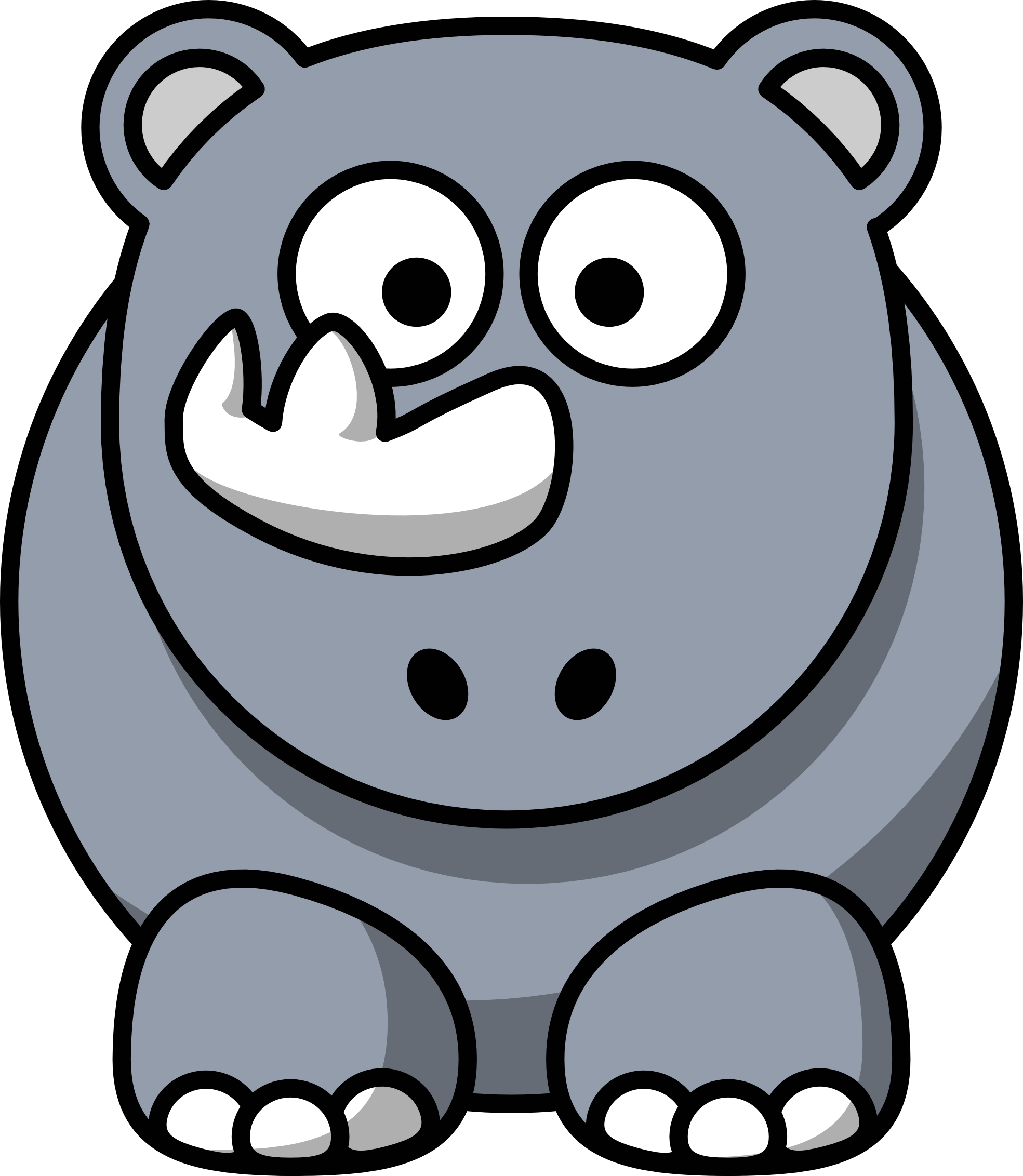 Cartoon Rhino - ClipArt Best