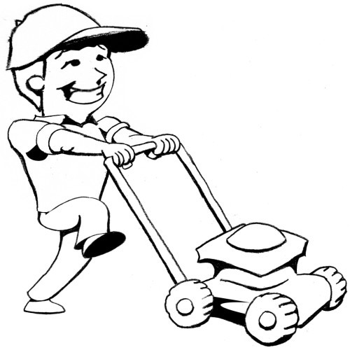 yard work coloring pages - photo#46