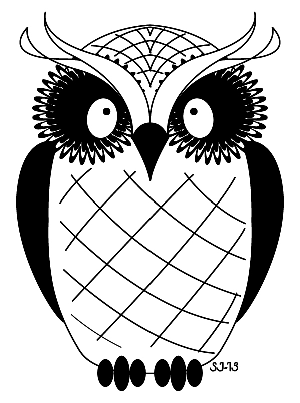 black and white owl drawing clipart best Owl Clip Art Black and White Pattern cute owl clip art black and white