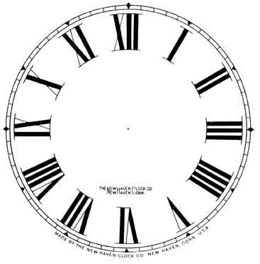 Roman Numeral Clock Template - ClipArt Best