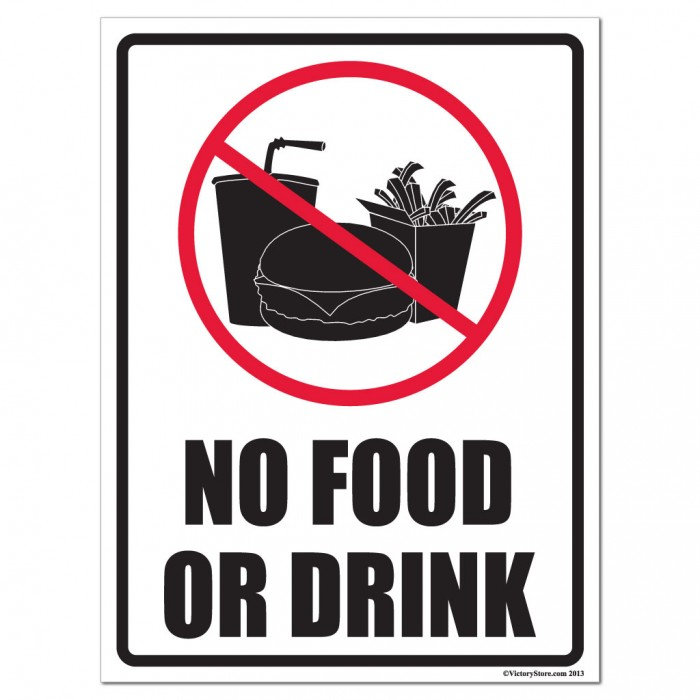 No Food Or Drink Signs - ClipArt Best