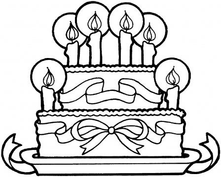 Birthday Cake Outline - ClipArt Best