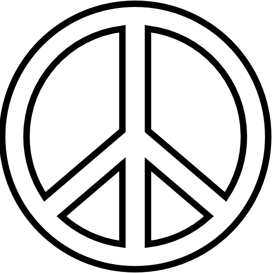 Peace Sign Clipart Black And White Peace Sign 18 Black White Line