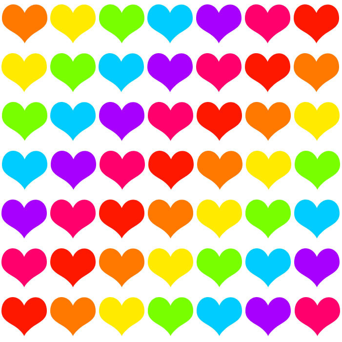 Rainbow Hearts on Rainbow Border