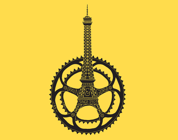 Le Tour de France 100th Anniversary Graphic | By Dave Foster