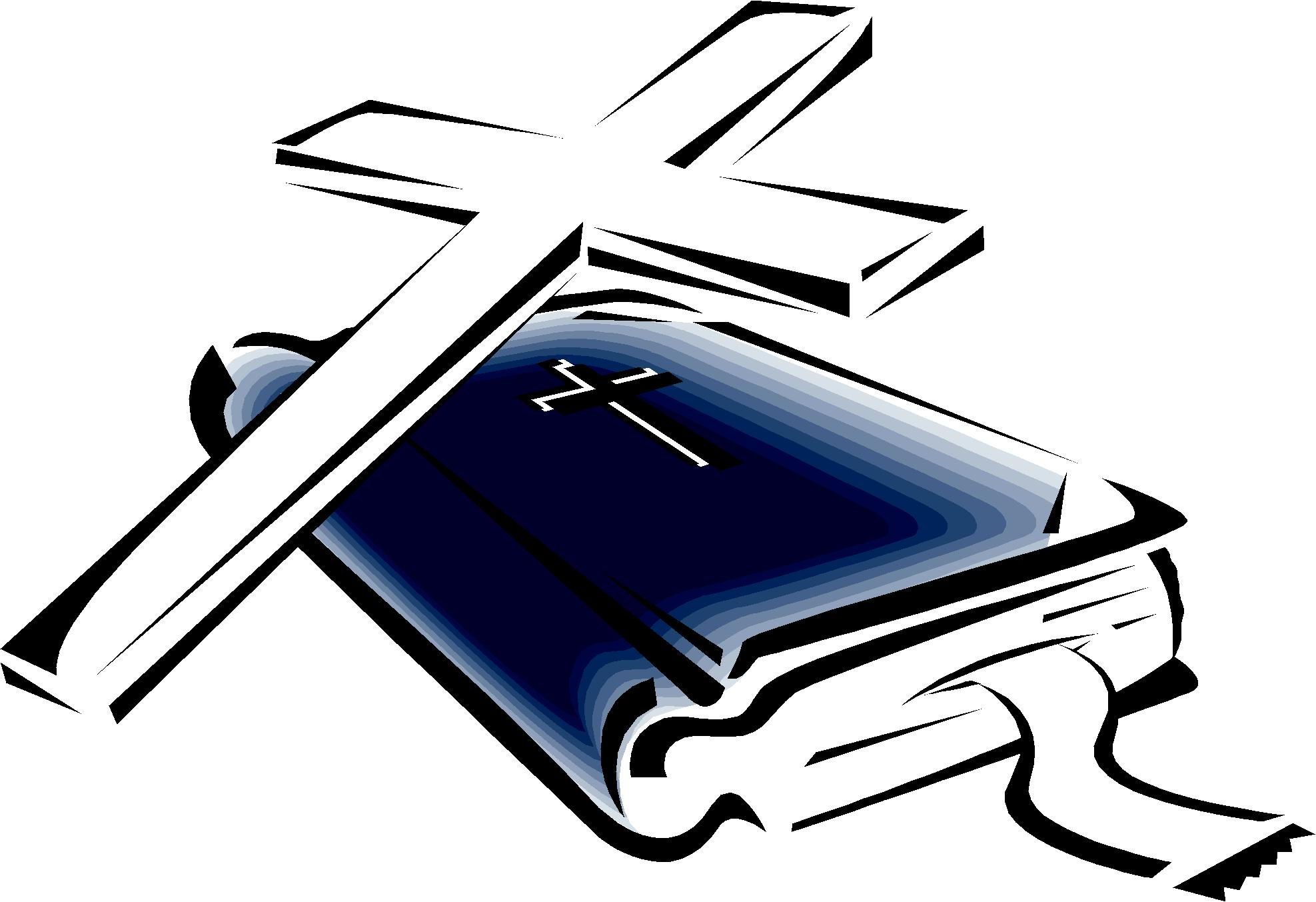 Bible and a cross clipart best