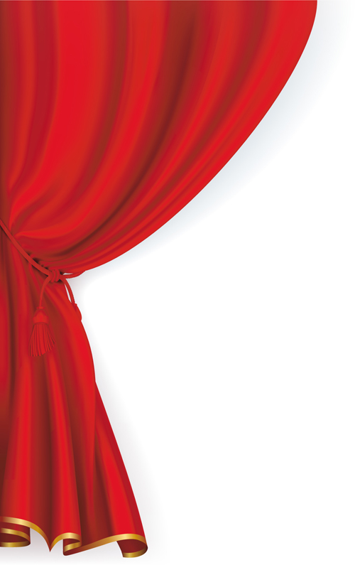 Cartoon Stage Curtains Red stage curtain design