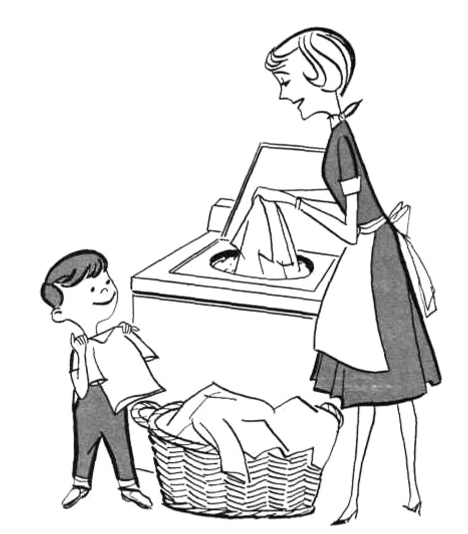 mother house cleaning coloring pages - photo#32