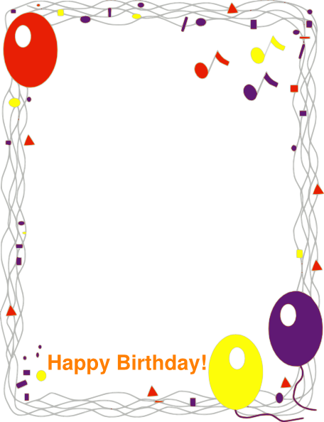 Birthday Borders For Word Clipart Best