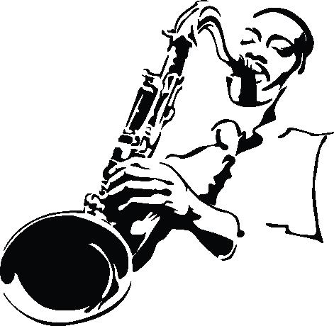 Illustration sandra hiralal clipart best clipart best - Saxophone dessin ...