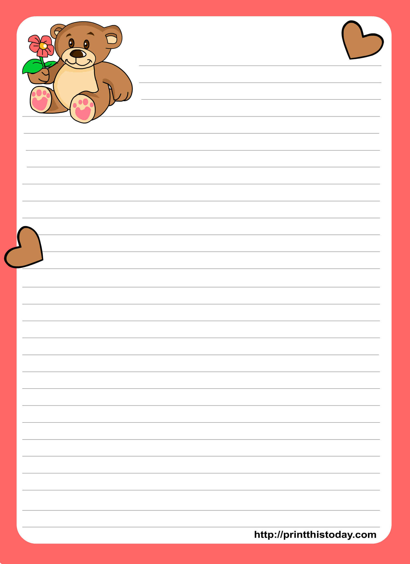 writing paper printables Inspire your kids to write on pages with fun borders with this printable template plus, check out more free scholastic printables and worksheets.