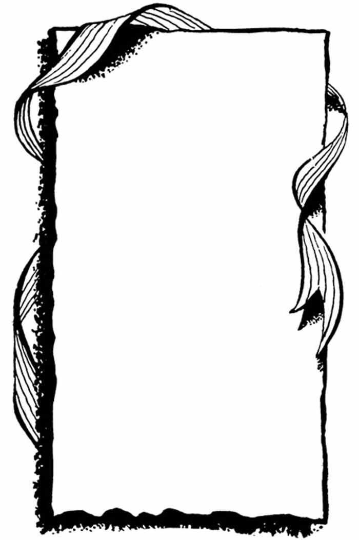 free black and white clip art borders - photo #43