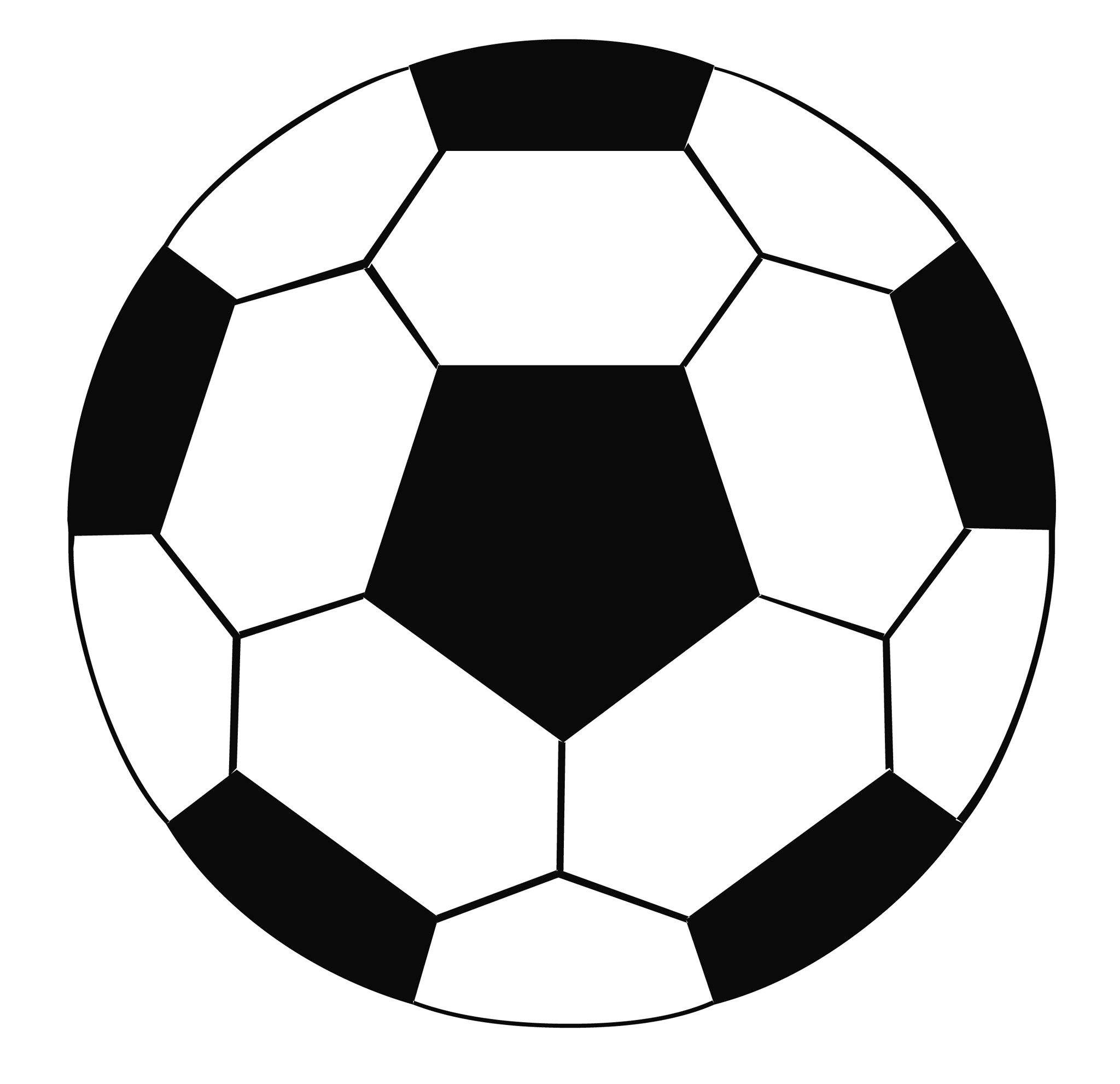 soccer ball pattern template