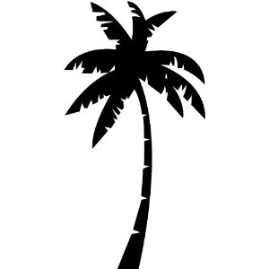 Palm Trees Silhouette Clipart Best