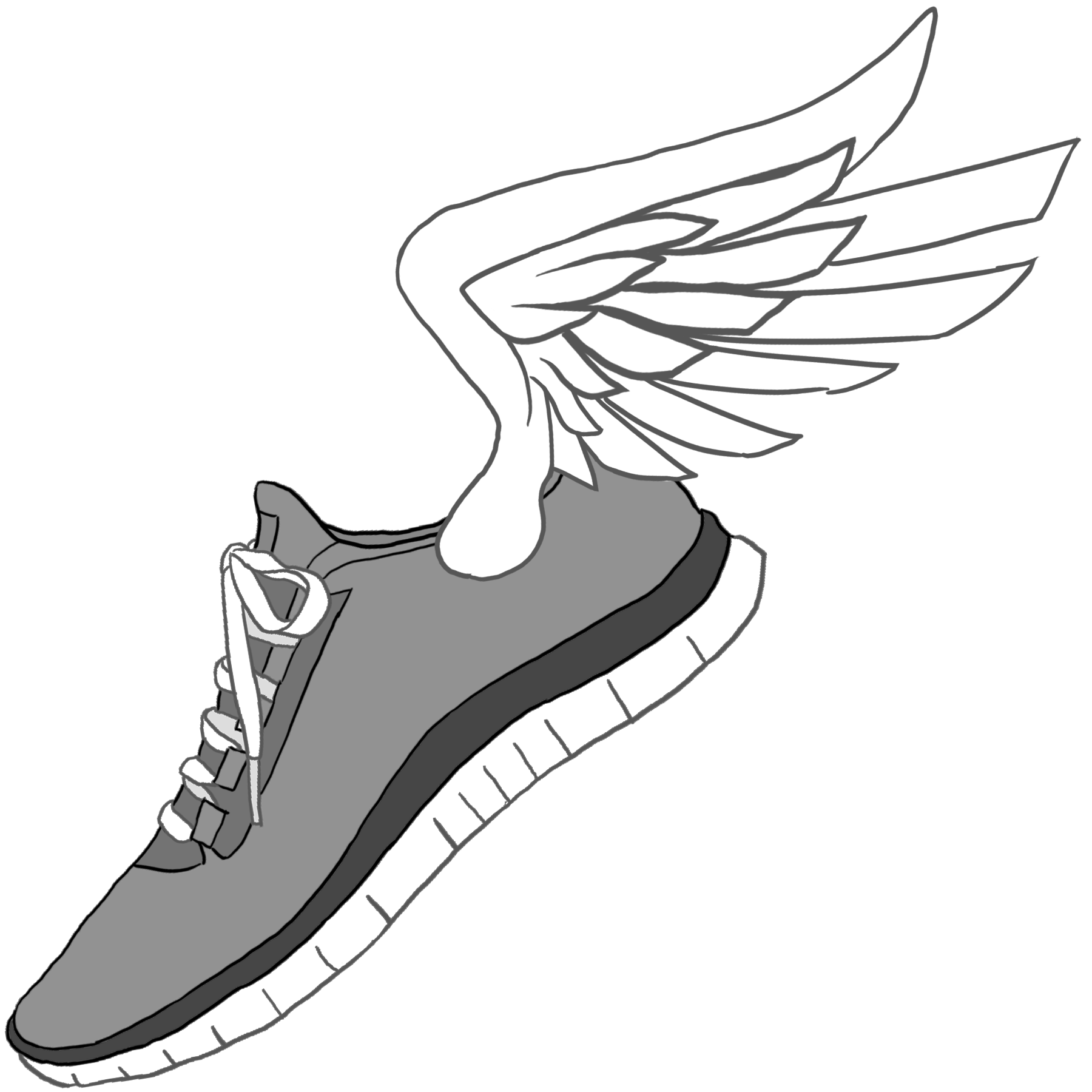 running shoes with wings clipart clipart best clipart best