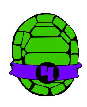 Turtle shell clipart