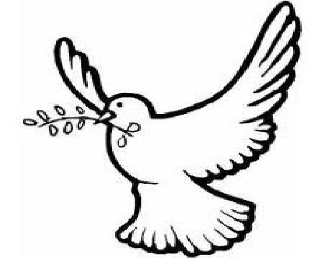 Holy spirit dove clipart black and white - photo#18