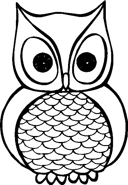 Owl Clipart To Colour - ClipArt Best