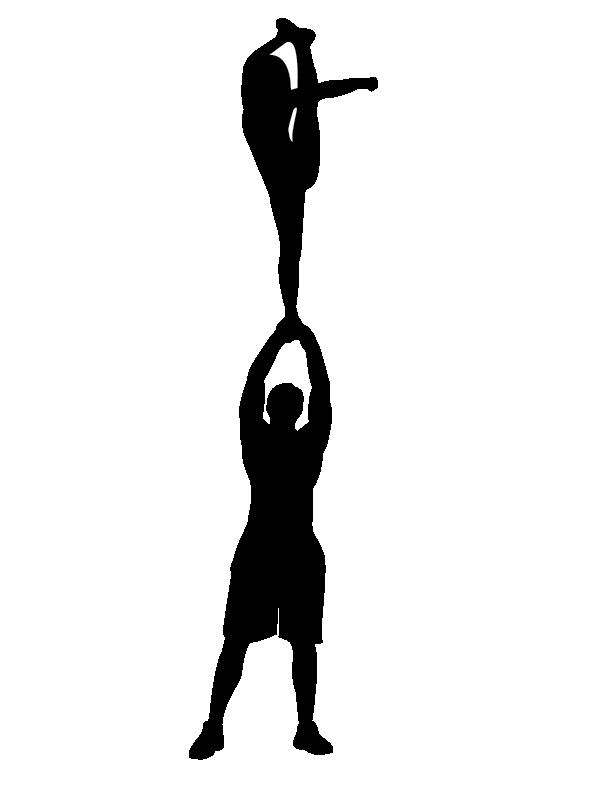 Cheerleading silhouette