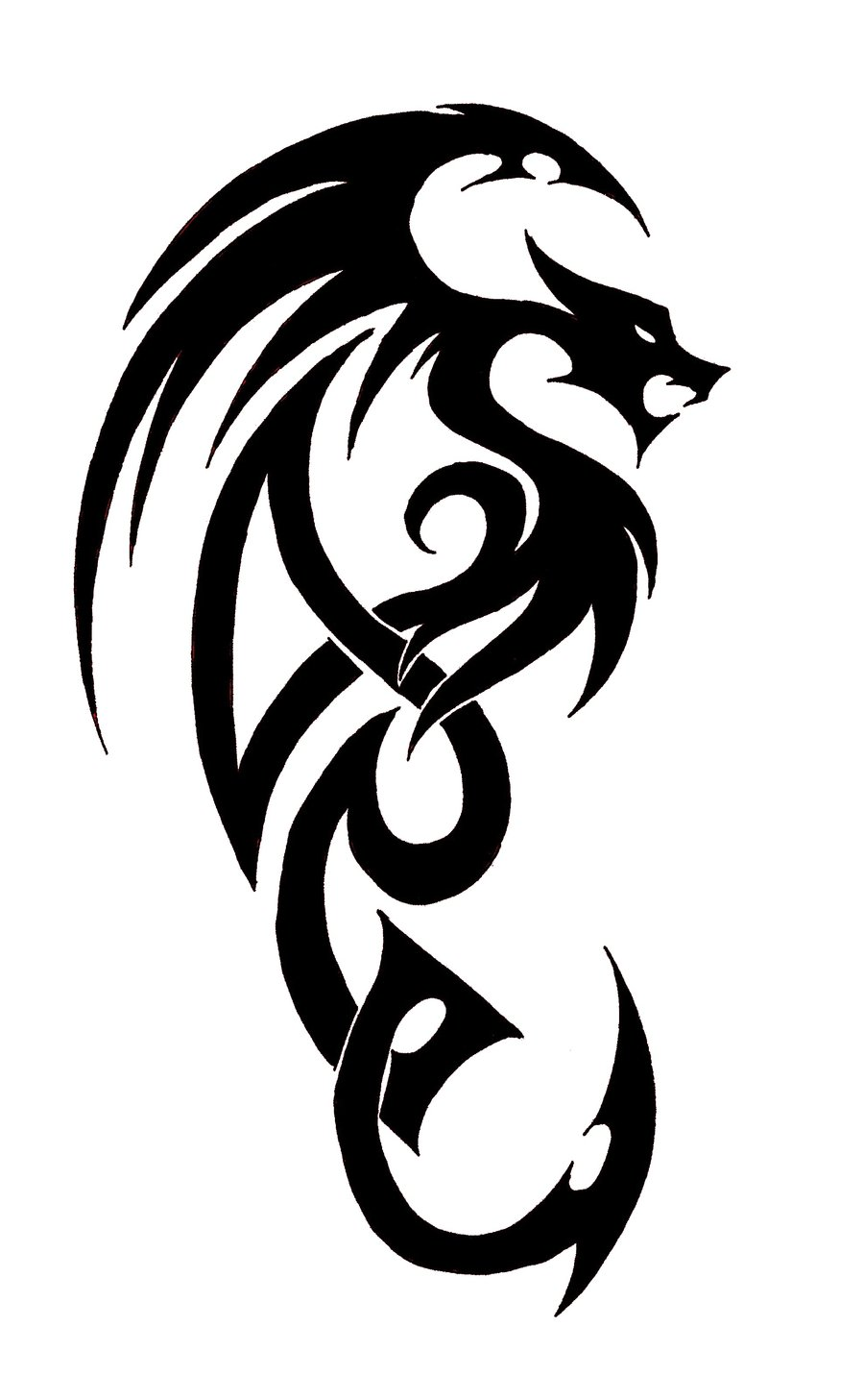Tattoo Simple Dragon ClipArt Best
