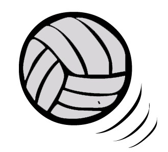 Volleyball Clipart Black And White - Free Clipart ...