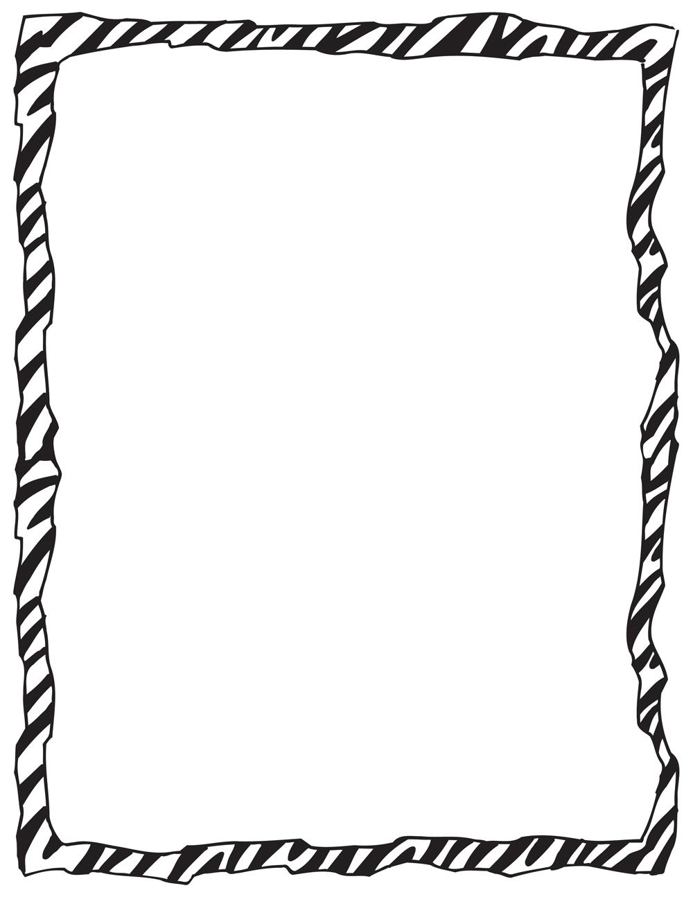 Zebra Print Border Template Print Border Template