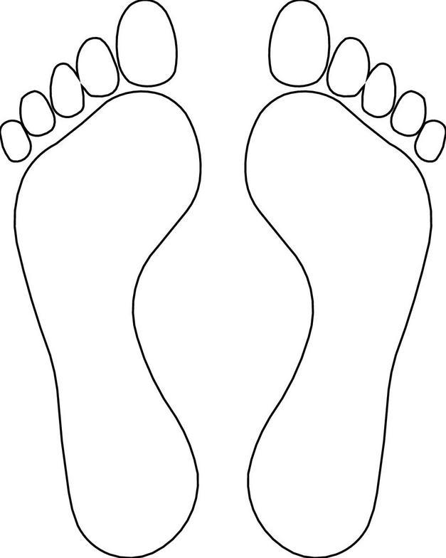 Feet outline clip art