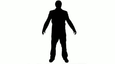 Relaxing Man Silhouette - 1080p Silhouette Of A Man Moving Arms To ...