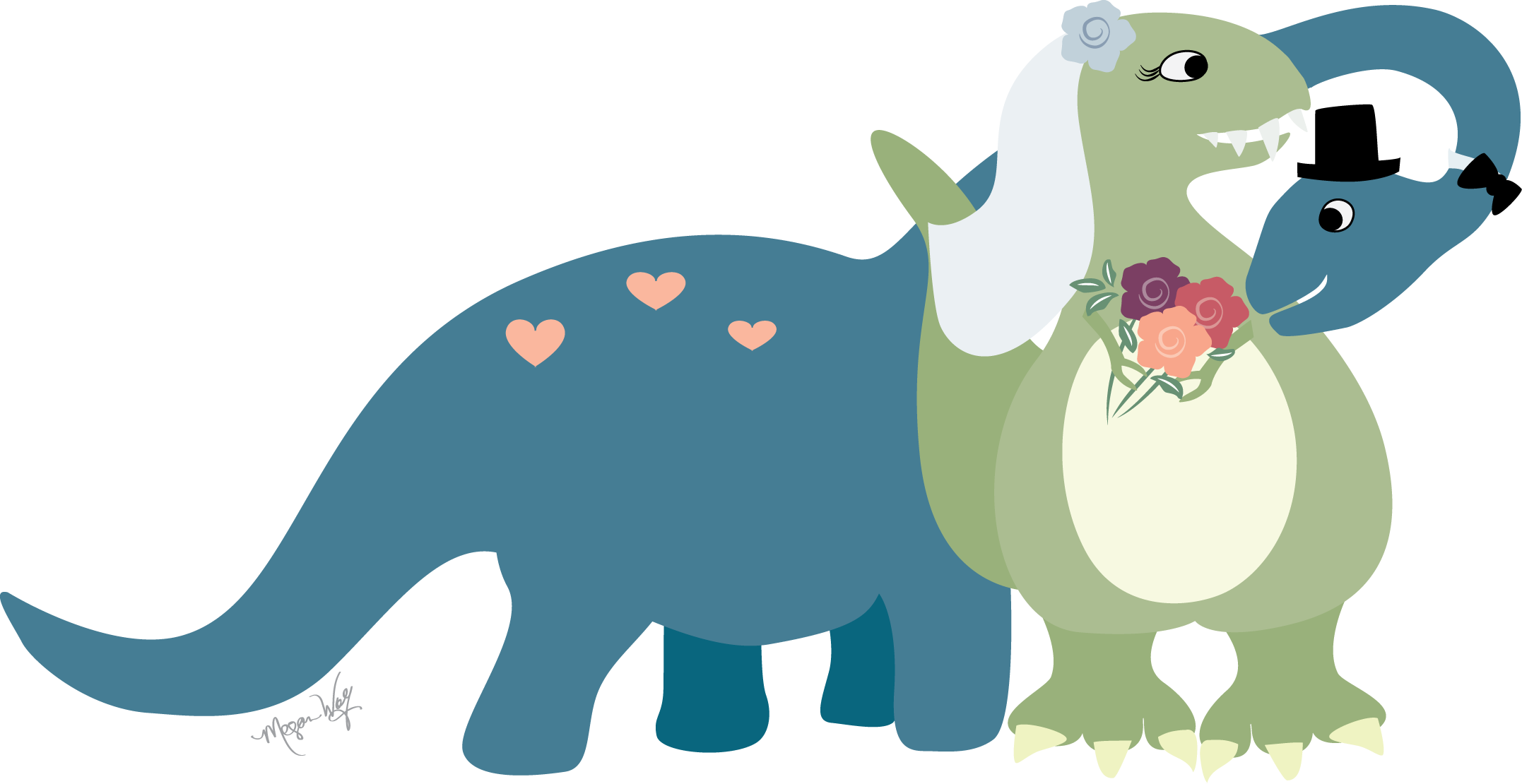 ... dinosaur wedding invitation | Meg Wolf - ClipArt Best - ClipArt Best