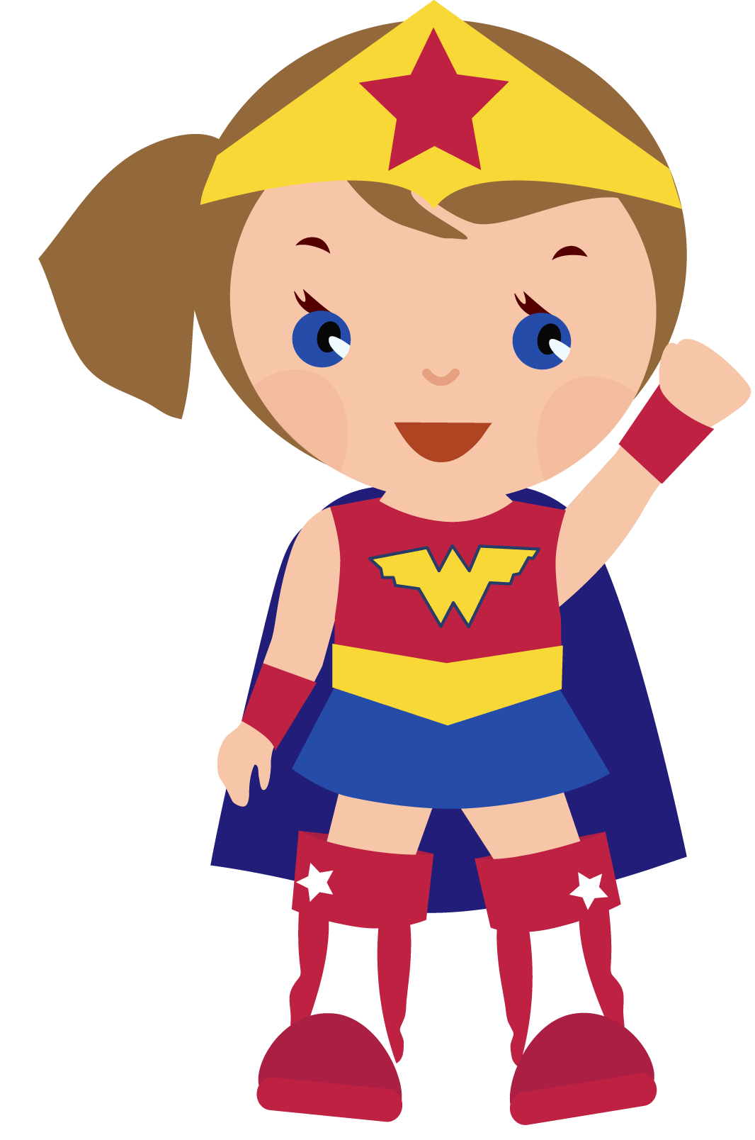 It is a graphic of Simplicity Wonder Woman Clip Art