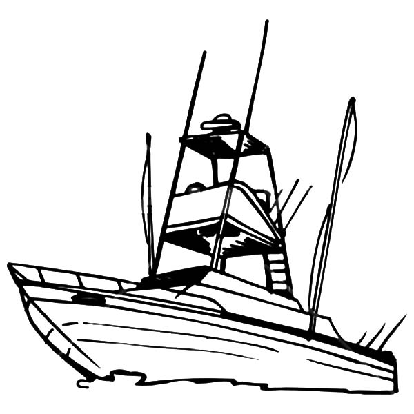 coloring pages of fishing boats - photo#34