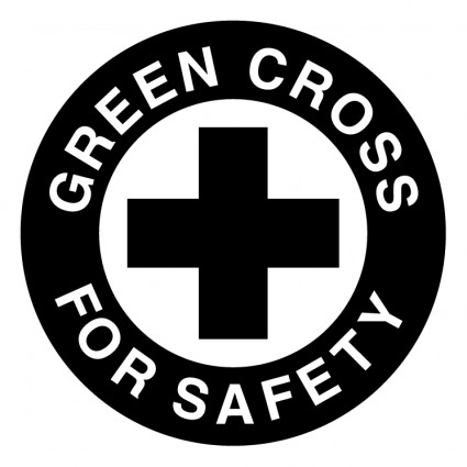Green cross for safety Vector logo - Free vector for free download