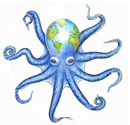 Octopus Line Drawing - ClipArt Best