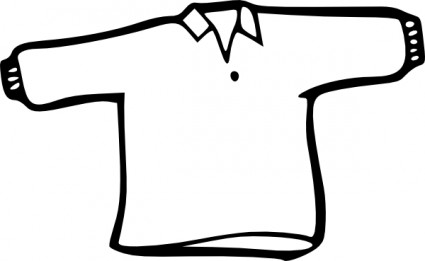 Shirt Outline clip art Vector clip art - Free vector for free download