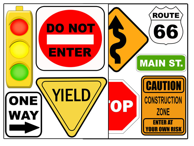 printable road signs clipart best