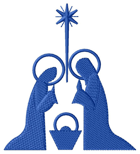 Religious Embroidery Design: Nativity Silhouette from Grand Slam ...