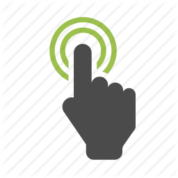 Click Here Hand Icon Png Clipart Best