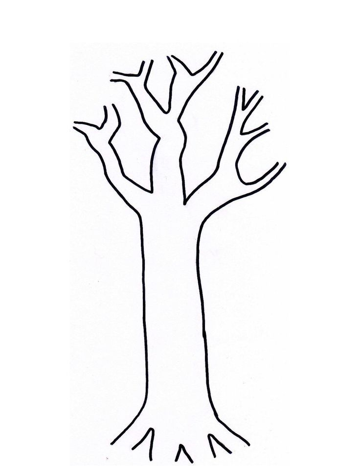Adorable image with printable tree trunk template