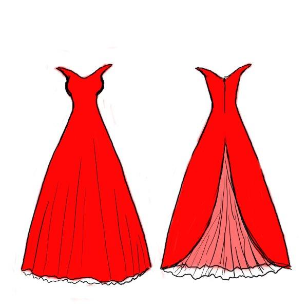How To Draw A Fashion Dress Step By Step