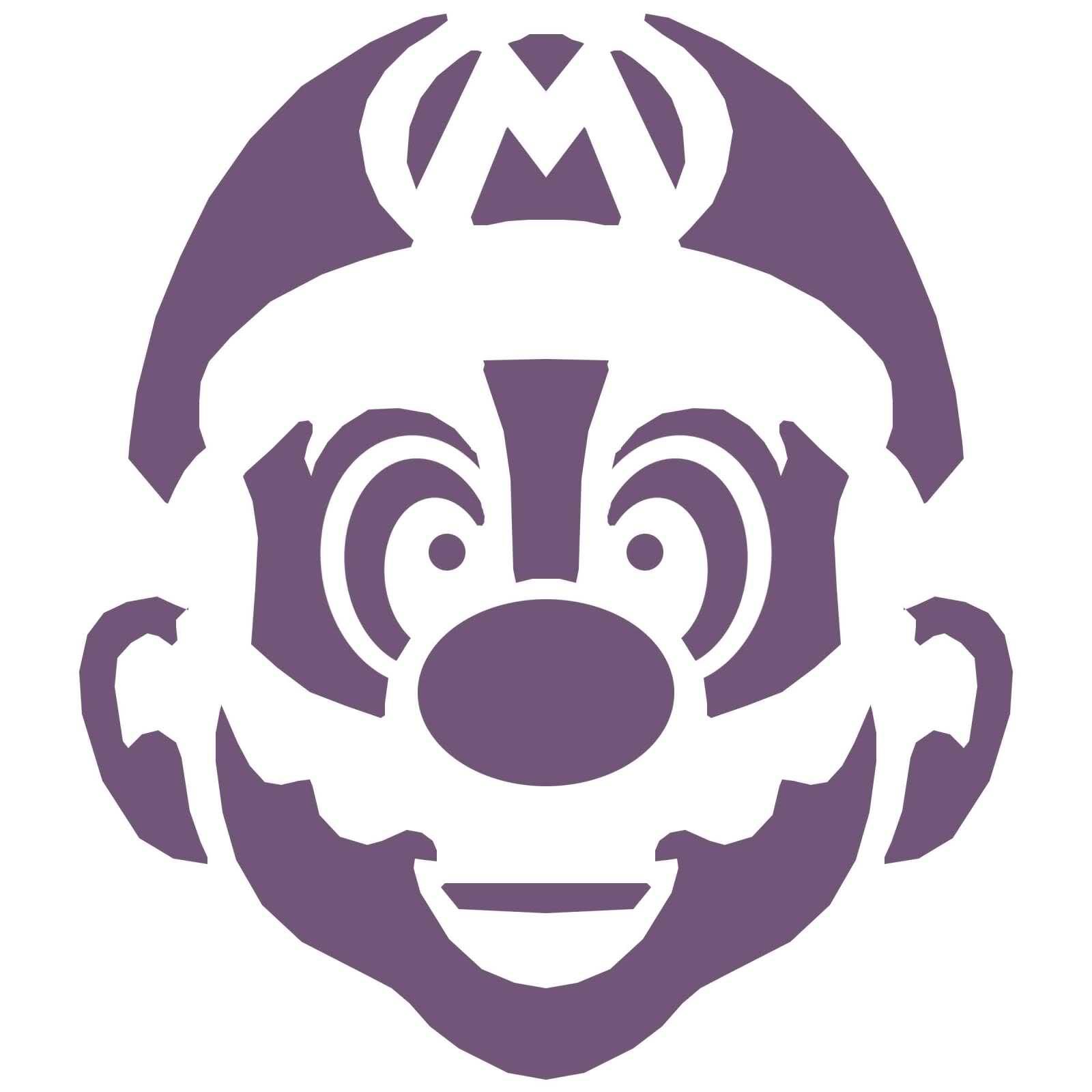 Mario stencil clipart best