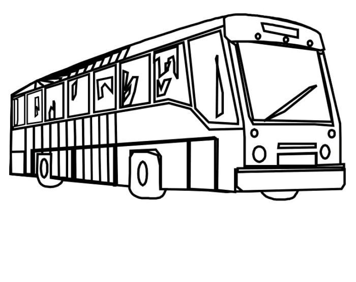 Bus Coloring Pages