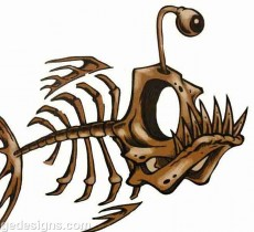 fish skeleton tattoos clipart best. Black Bedroom Furniture Sets. Home Design Ideas