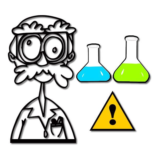 Mad scientist laboratory clipart
