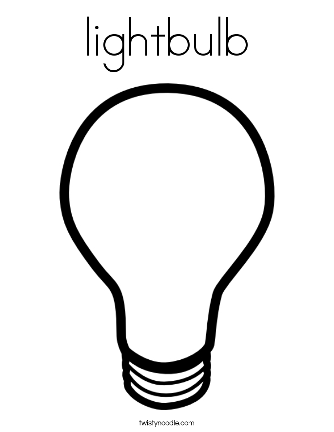 lightbulb Coloring Page - Twisty Noodle