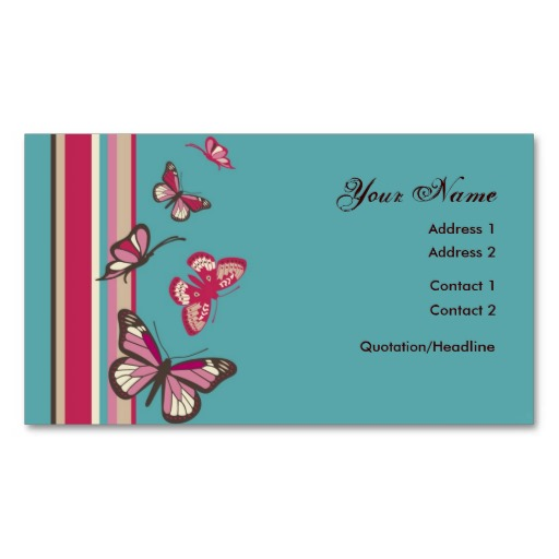Butterfly Profile Card Business Card Templates from Zazzle. - ClipArt ...