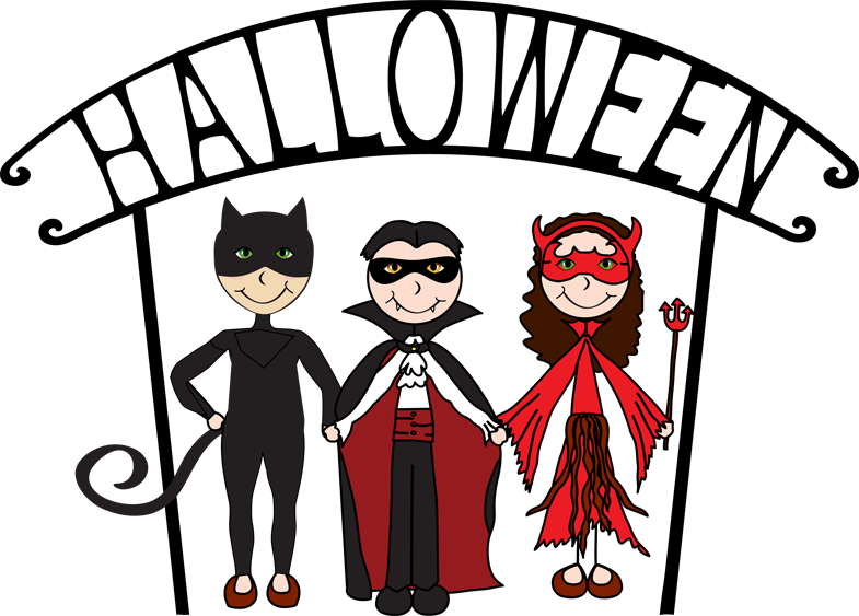 Halloween Cat, Dracula and She Devil