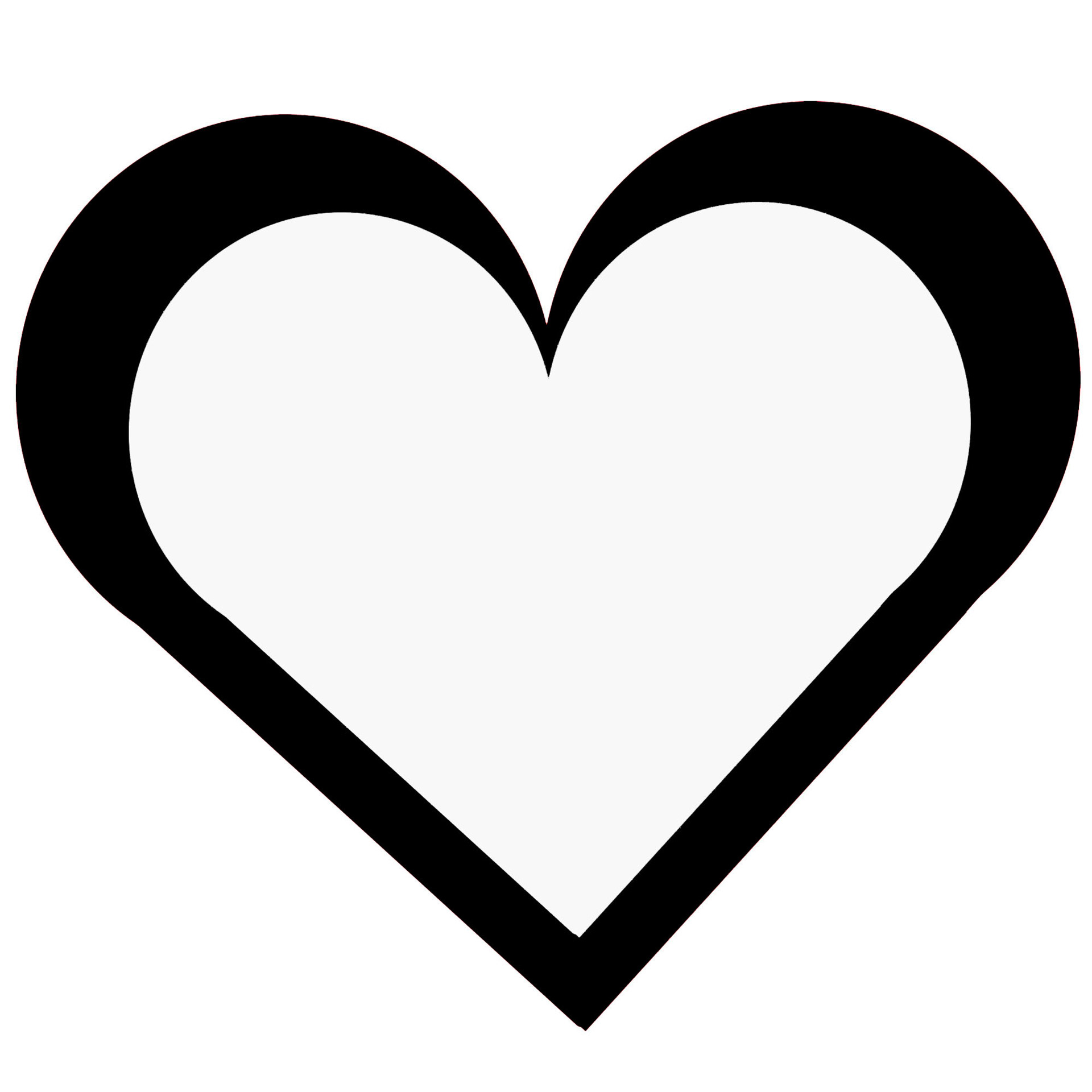 Vector heart outline
