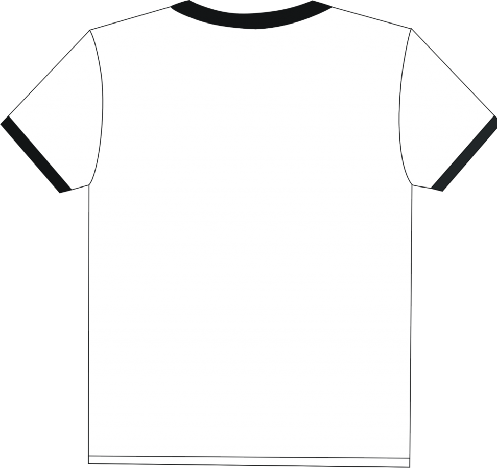 White tshirt front and back clipart best for Plain t shirt template