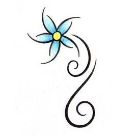 Blue Flower Tattoos | Flower ...