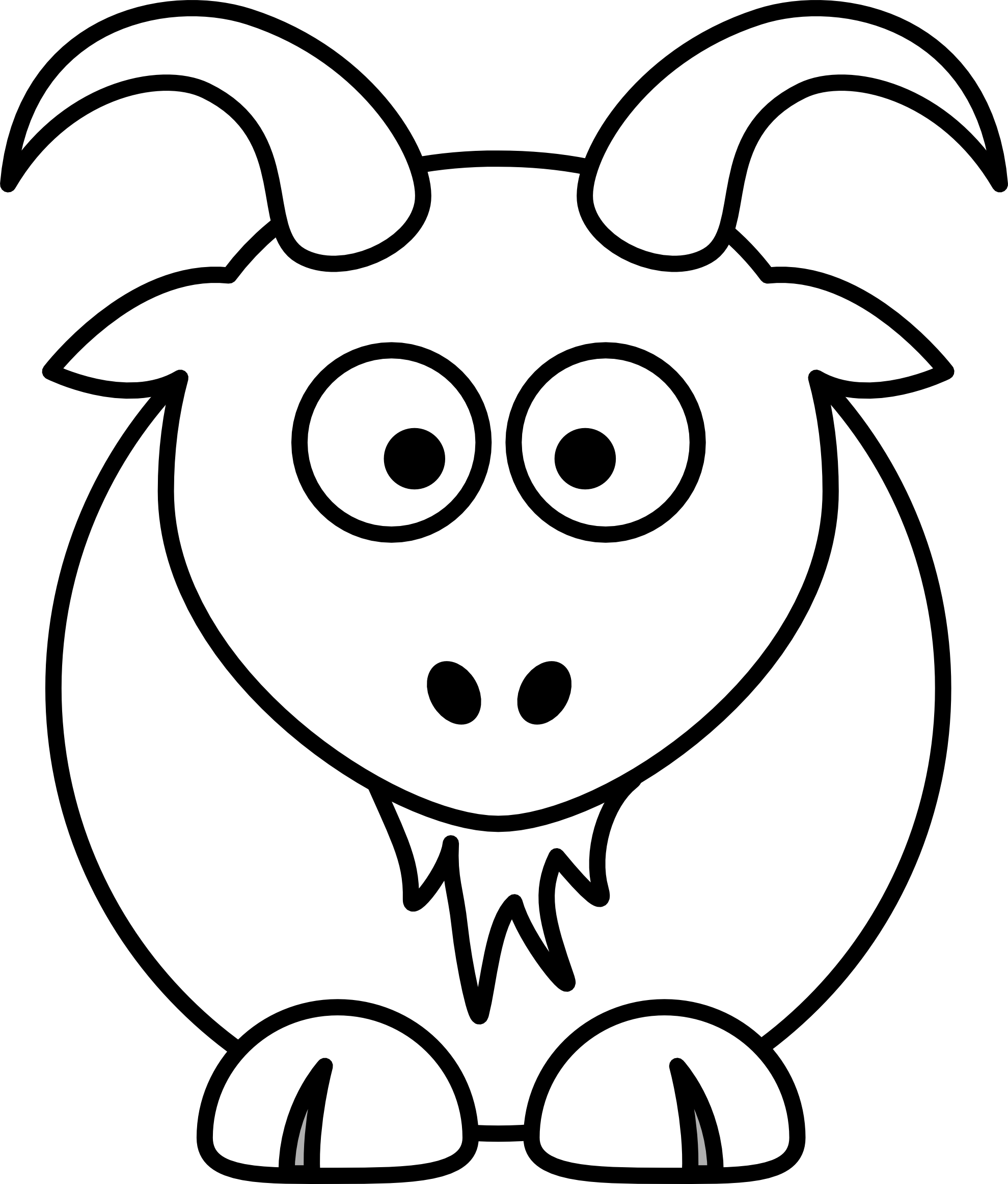 Simple Clip Art Line : Animal line drawings clipart best